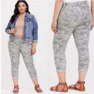 Torrid Military Camo Print Cropped Pants s 20